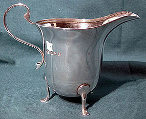 Classic ENGLISH STERLING FOOTED CREAMER 1931