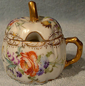 DRESDEN DECORATING STUDIO MUSTARD POT