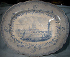"R.A. Kidston 20"" LONDON Scene United Kingdom MEAT PLATTER 1840"