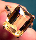 14K EGYPTIAN ROSE GOLD CITRENE RING 14 K Citrine Size 6-1/2