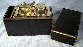 Antique JAPANESE LANTERN LAMPLIGHTER KIT IN BOX