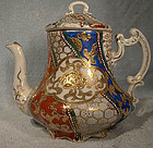 Fine Satsuma TEAPOT with ENAMEL and GOLD c1880