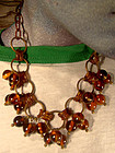 Vintage 1930s CELLULOID & BRASS NECKLACE