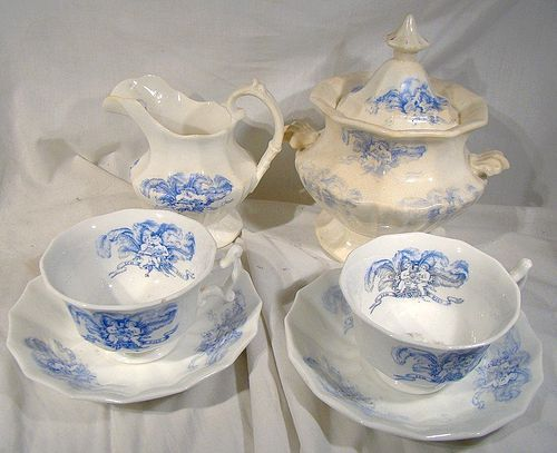 Rare Set BIRTH OF EDWARD VII COMMEMORATIVE CHINA 1841