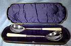 Ornate W. HUTTON STERLING SALAD SERVERS in BOX 1906