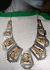 PERU(?) 18K GOLD & SILVER INCAN GODS NECKLACE