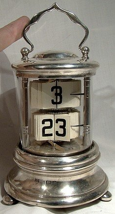 Rare STERLING PLATO or PAGE CLOCK - London 1901