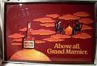1983 GRAND MARNIER 3D SHADOWBOX ADVERTISING PICTURE