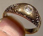 Victorian 14K DIAMOND RING 1890-1900 Star Setting Size 7-1/2