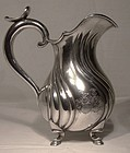 19thC 750 SILVER BARONIAL CRESTS Jug Pitcher J Wagner & Sohn Germany