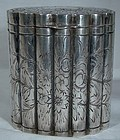 800 SILVER Hand ENGRAVED CANISTER A Ronchi Milan 1930 1935