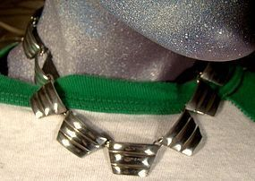 Heavy MEXICAN STERLING SILVER COLLAR NECKLACE