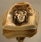 Fine 19thC Signed CHINESE FROG IVORY TOGGLE