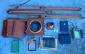 THORNTON-PICKARD Glass Plate Camera c1900 - Lots of Acc