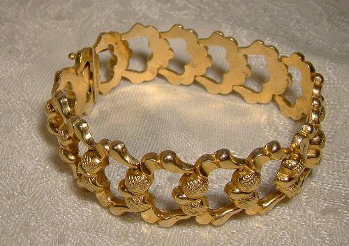 18K GOLD VINTAGE ITALIAN BRACELET & NECKLACE 1957 Menegotto Polinto