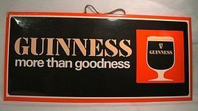 GUINNESS BAR STANDUP HANGING ADVERTISING SIGN