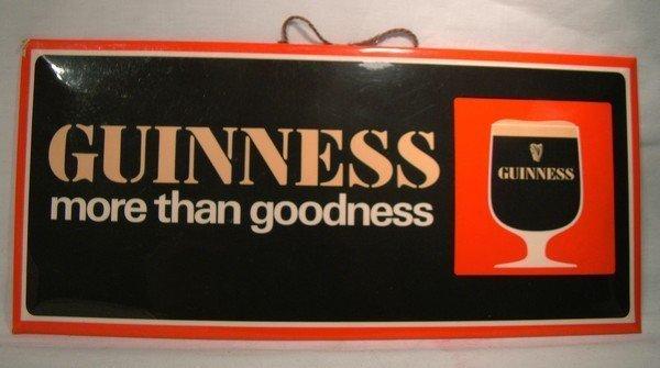 Vintage GUINNESS BAR STANDUP HANGING ADVERTISING SIGN
