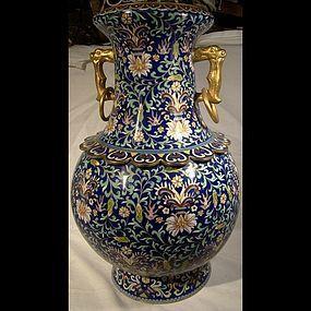 Huge CHINESE CLOISONNE PERSIAN TASTE VASE c1900