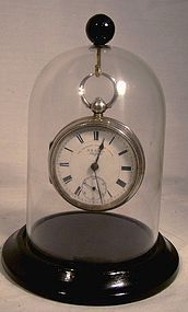 JG GRAVES SHEFFIELD STERLING SILVER SWING-OUT KEY POCKET WATCH 1902