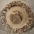 Scarce 19thC F.T. THOMAS CANADIAN PATTERN PLATE