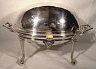 Victorian ROLLTOP BACON DISH or SERVER c1880