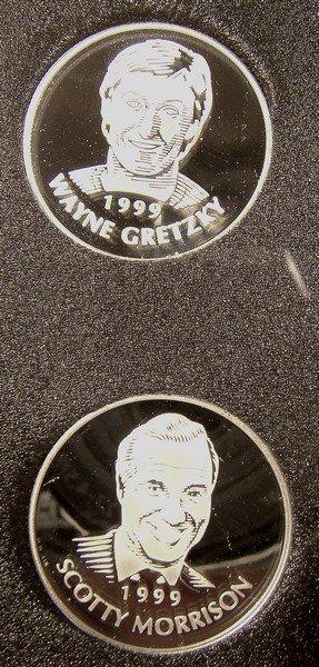 1999 CANADA RCM HOCKEY HOF STERLING MEDALS in CASE