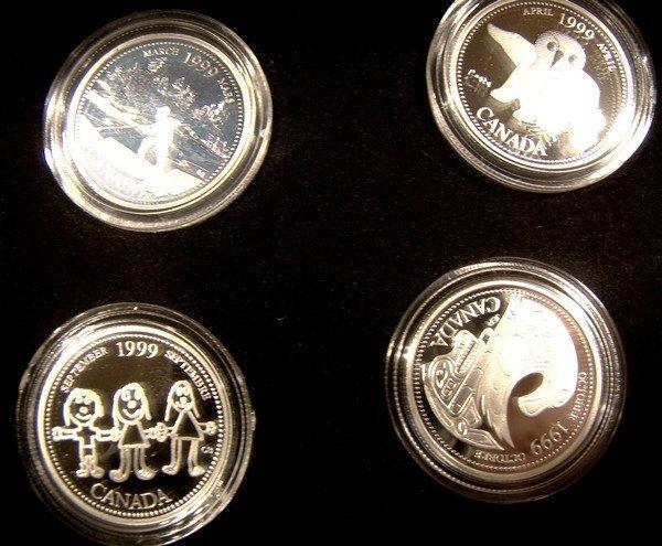 CANADA 1999 MILLENNIUM 25 Cent COIN SET CASE BOX