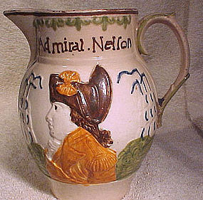 PRATT WARE LORD NELSON and CAPT. BERRY JUG 1798-1806