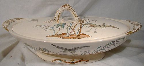 Copeland Spode D9875 AESTHETIC COV. ENTREE DISH c1870s