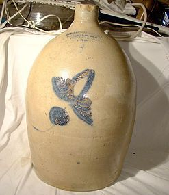 19thC Farrar Batiscan Quebec 4 Gallon Wine Jug or Crock Victorian Can.