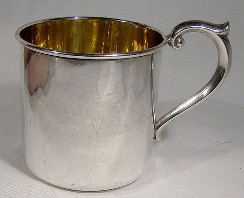 Lullaby (Alvin) Sterling Silver Baby Mug 1950s - Todd Monogram