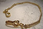 Edwardian 14K Vest Pocket Watch Chain 1900-10 long 14 K 7-1/8""