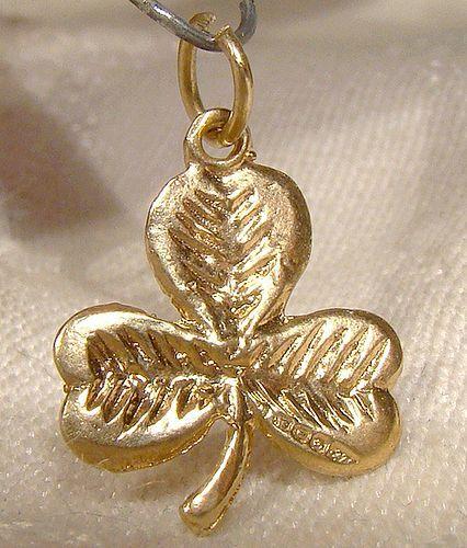 9k yellow gold shamrock pendant or charm item 1331390 9k yellow gold shamrock pendant or charm aloadofball Images