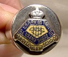 Enamel Sterling Silver School Ring 1930s 1940s Hanover High School Ont