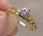 14K Yellow Gold Diamonds Engagement Ring 1960s 14 K Appraisal