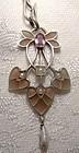 Pforzheim Germany Plique a Jour Enamel Arts and Crafts Necklace 1910