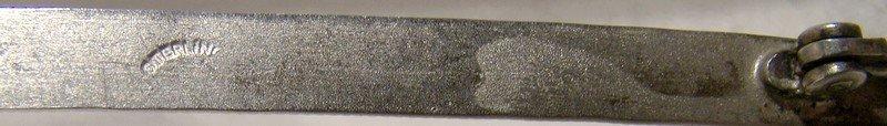 Edwardian Heavily Engraved Long Bar Straight Pin Brooch 1910