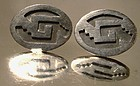 Sterling Silver Mexican Cutout Cufflinks 1960s