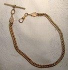 Victorian Engraved End Terminal Gold Filled Man's Pocket Watch Chain