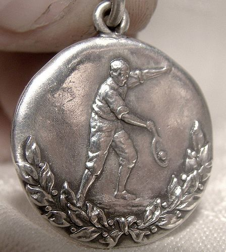 Sterling Silver C.H.S. Tennis Sports Award Fob Pendant 1915 Ryrie Bros