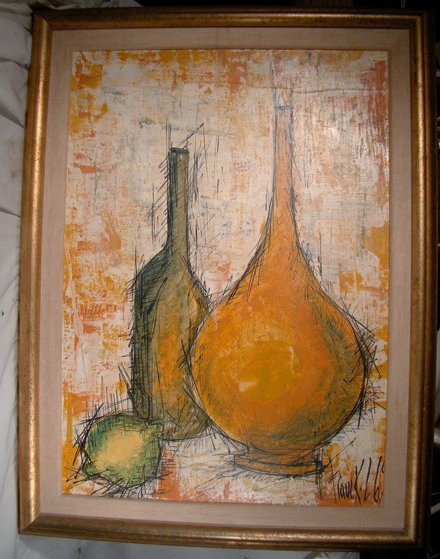 Franck L. Paris France Oil on Panel Painting 1969 - Great Modernism