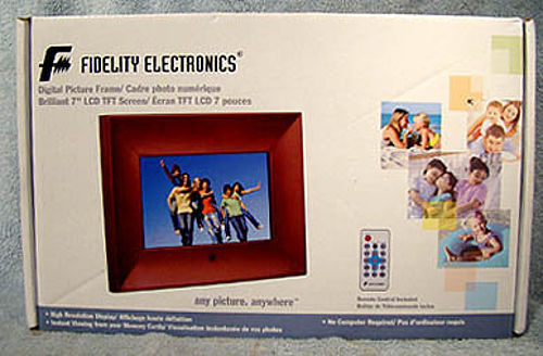 "Fidelity Electronics 7"" Picture Frame DPF-7016W New in Box - Ex. Gift"