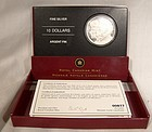 2005 Canada 10 DOLLARS Year of the Veteran Pure Silver Coin in Case