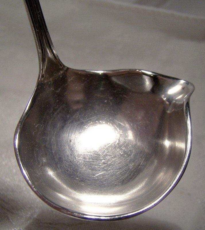 SSMC Saart Rosebud Pattern Sterling Silver Sauce or Cream Ladle