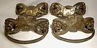 Set of 4 Victorian Brass Drawer Pulls 1890s