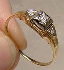 Art Deco 14K 18K Diamonds Engagement Ring 1920s - Bridal Wreath Size 8