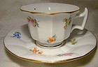Meissen Scattered Flowers Demitasse Cup and Saucer 1920s