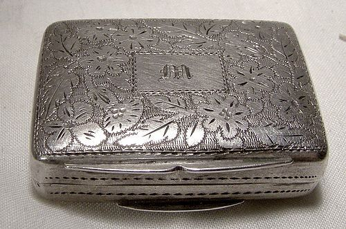 William IV Sterling Silver Vinaigrette - Thomas Shaw Birmingham 1833