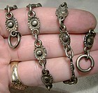 Art Nouveau Sterling Daisy Flower Purse Handle Chain 1900