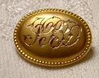 10K Victorian Collar or Veil Initial Pin